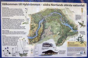 Informationstavla Hylströmmens naturreservat.