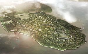 Hälgsnäsudden är tänkt att bli en semesterby, turistcenter, med uppåt 260 fritidshus, marina, restaurang, butik och mycket annat. På måndag kväll är det informationsmöte i Hällefors kommunhus. Bild: projektskiss.