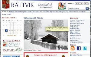 Rättviks kommuns  webb.