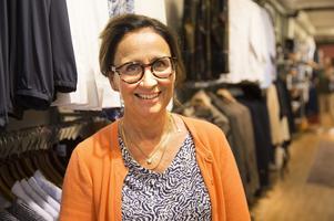 Maria Vretlund, butiksägare  Frändesta kläder.