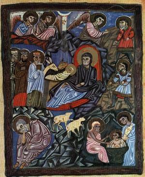 Miniatyr ur Evangelium från T'argmantchats 1232. 29,5 x 22,5 centimeter.