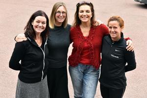 Sarah Larsson, anläggningschef Moraparken, Caroline Smitmanis Smids, utvecklingschef Mora, Camilla Collett, Mora köpstad och Pernilla Matsson, Företagarna Mora.