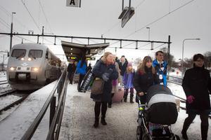 84,6 procent av persontågen kom till Hudiksvall i rätt tid under 2011.