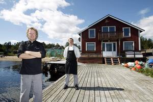 För två år sedan köpte Kenneth Sillman och Niclas Strid det gamla salteriet (bilden) för att starta ny verksamhet där. Men oenighet kring arrendeavtalet har hindrat dem att få banklån.