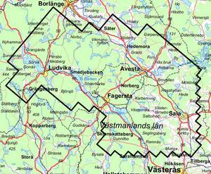 Här är området som kan överflygas av SGU, främst under tiden 05.30-09.30 och 18-22 under tiden mitten av maj till mitten av juli.