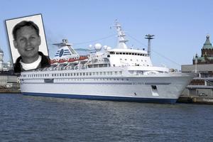 Patrik Olsson är delägare i företaget TEC Farragon som vill driva ett flyktingboende på fartyget M.S. Delphin.