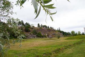 Djupestrand,  med Köpmanberget i bakgrunden.