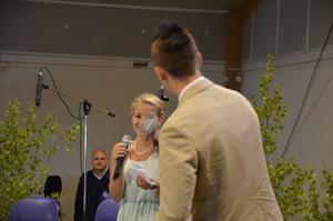 Konferencier. Madeleine Ekelöf Leijon och Viktor Mårtensson-Axelsson.