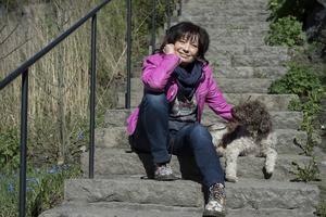 Hunden Bliffe en viktig del av livet för barnprogramledaren Eva Funck Beskow.
