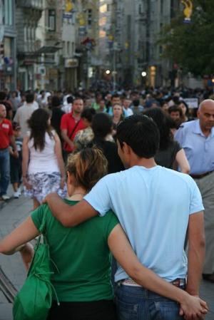 Stadsliv i Istanbul.