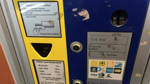 Parkeringsautomat.
