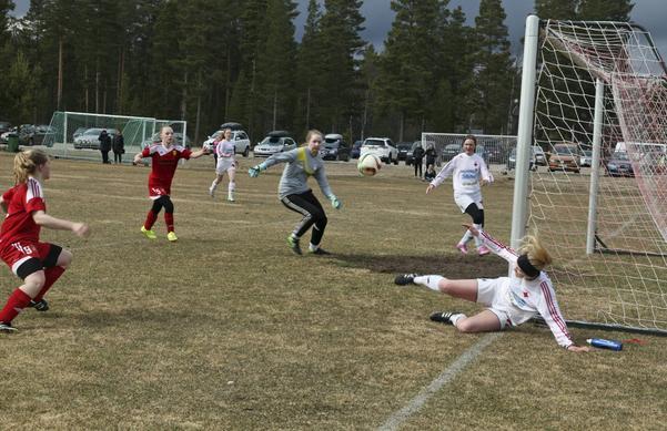 Sveg/Vemdalen skapade några riktigt heta målchanser utöver segermålet men bollen ville inte in i nätet.