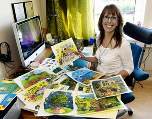 – Jag jobbar en hel del med läshjälpssböcker, så att formge och göra illustrationer till en bilderbok är en skön konstrast, säger Pia Niemi, Timrå.