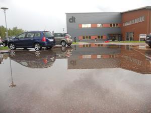 DT:s parkering på Ingarvet i Falun.