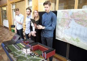 Ett förslag är att bygga låga röda hus med vita knutar på Håstaholmen samtidigt som det finns möjligheter till utbildning och rekreation på samma ställe.