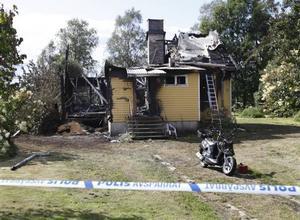 Villan blev helt utbränd.