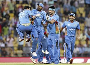 Sprids i Sverige. På bilden: afghanska cricketspelare under en match i Indien.