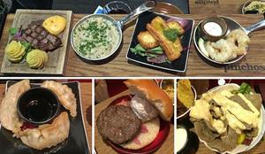 Plankstek, svamprisotto, halloumi, gambas, dumplings, miniburgare, kebab. Det finns ingen linje i menyn på Pinchos mer än att det är små portioner från alla världens hörn.
