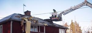 Larmet om villabranden i Venjan, Mora, inkom till brandkåren klockan 15:43 på söndagen. Foto: Mora Brandkår