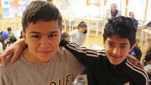Evan Bibo och Haval Haji är sjätteklassare på Nygårdsskolan i Borlänge.