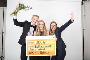 Bottleopener UF från Ljusdal vann kategorin Årets hantverk på SM i Ung företagsamhet.