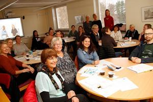 Första mötet av fyra hölls på Utvecklingscentrum i Ljusdal på torsdagen, nästa träff blir i december.