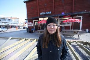 Sjöbodarna är typiskt för Hudiksvall, anser Sara Eriksson.