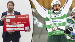 Västerås får mest pengar av bandyklubbarna.