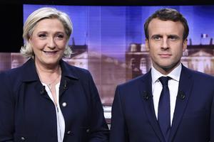 Marine Le Pen och Emmanuel Macron.
