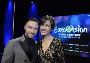 Måns Zelmerlöw och Petra Mede är programledare för Eurovision Song Contestnästa år. Arkivbild.