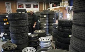 Massor av däck kommer att bytas.