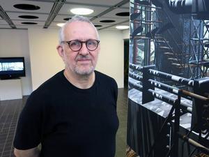 Michel Droetto visar minnen av framtiden, i konsthallen i Sandvikens Kulturcentrum.