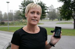 Anette Bergman, idrottslärare i Stöde, tror att stdiemotivationen kommer att öka när eleverna får använda sig av mobilen på lektionstid.