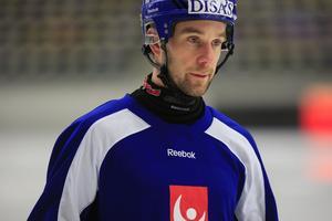 Daniel Andersson på landslagsträning.
