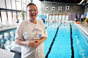Karin Blomqvist var med och startade babysimmet i Gävle för 30 år sedan.