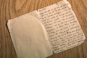 Brevet från Melissa.