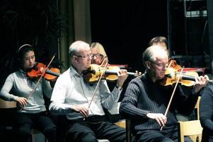 Sandra Wang, Lars-Olof Nyman inlånad från Gävlesymfonikerna och Lars-Gunnar Lundell.