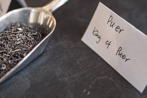 Pu-er är te som lagrats under flera år.