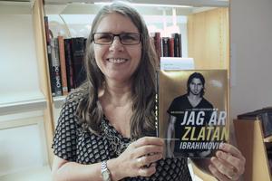 En enda Zlatanbok - som var beställd - fanns hos Marie Hellbom på tisdagen.