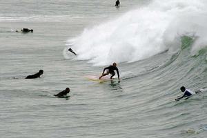 Grace och balans. Många kan lära sig att surfa på en  vecka trots att det känns svårt i början.