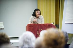 Föreläsaren Louise Wramner berättade om Wittingmetoden och hon är även erfaren lärare.