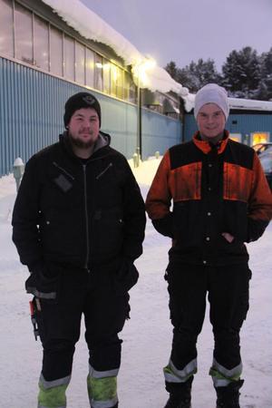 Tredje generationen på väg in i företaget. Patrik Kardell, son till Per-Pke och Egon, 17 år, son till Sten-Olof är nu verksamma efter lärlingsutbildning.