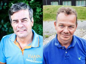 Pär Jönsson (M) och Pär Löfstrand (FP).