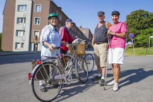 Britta Wohlin, Uno Wohlin, Ola Ögren, Vailett Ögren trivs på Ludvigsbergsvägen och tror att intressena som Hitta.se listar stämmer för området.