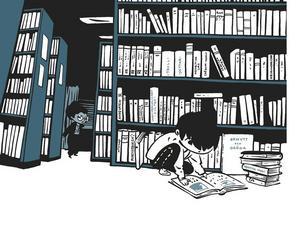 Frank söker sig till böckerna på biblioteket för att få svar på frågan om vem eller vad han förvandlats till.