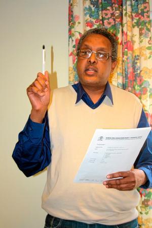 Mahdi Warsama Ahmed, ordförande i Afrikas horn kulturcenter.