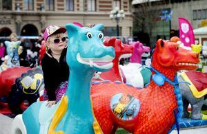 Drakarna står utställda i Sundsvall fram till mitten av oktober varje år. Bild: Mårten Englin