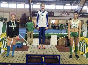 Casandra Johnson spräng hem en silvermedalj på 60 meter.