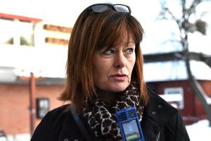 Birgitta Bogren, vd Siljan turism, blir intervjuad.