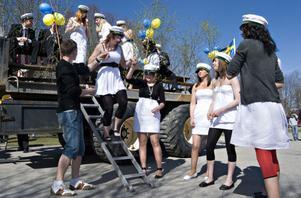 Sköna gröna Nytorp, sjöng studenterna vid naturbruksgymnasiet Nytorp när de tog studenten den 30 april.